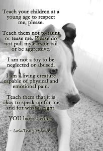Teaching kids to respect animals