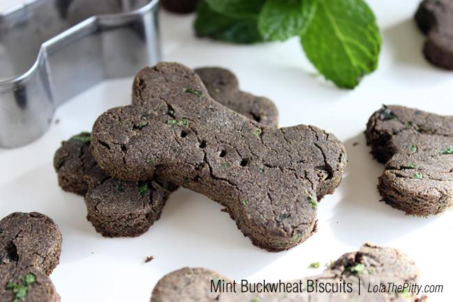 Mint Buckwheat Dog Biscuits