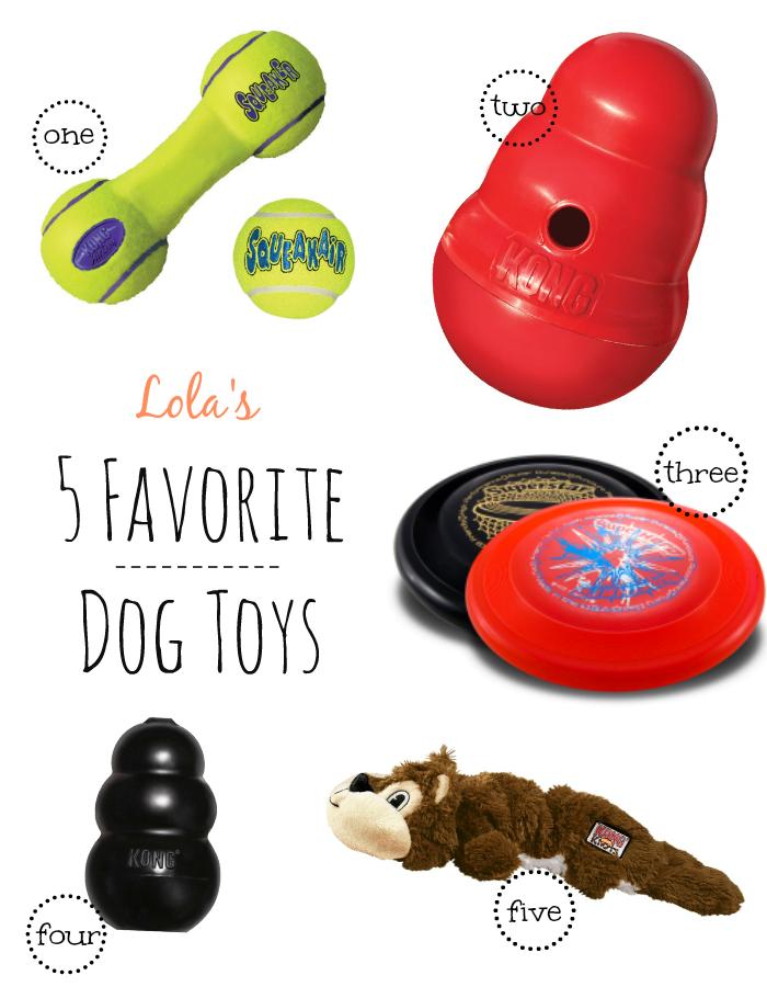 Lola's Top 5 Dog Toys - lolathepitty.com