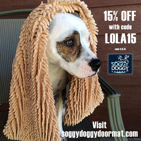 15% off Soggy Doggy order with code LOLA15 | lolathepitty.com