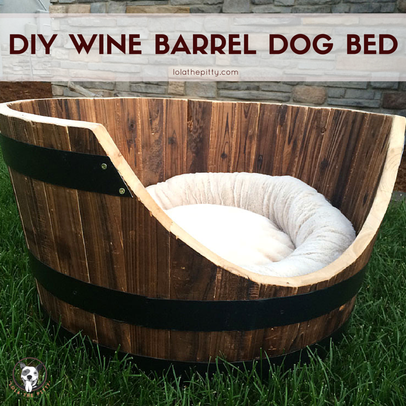 DIY Wine Barrel Dog Bed | lolathepitty.com