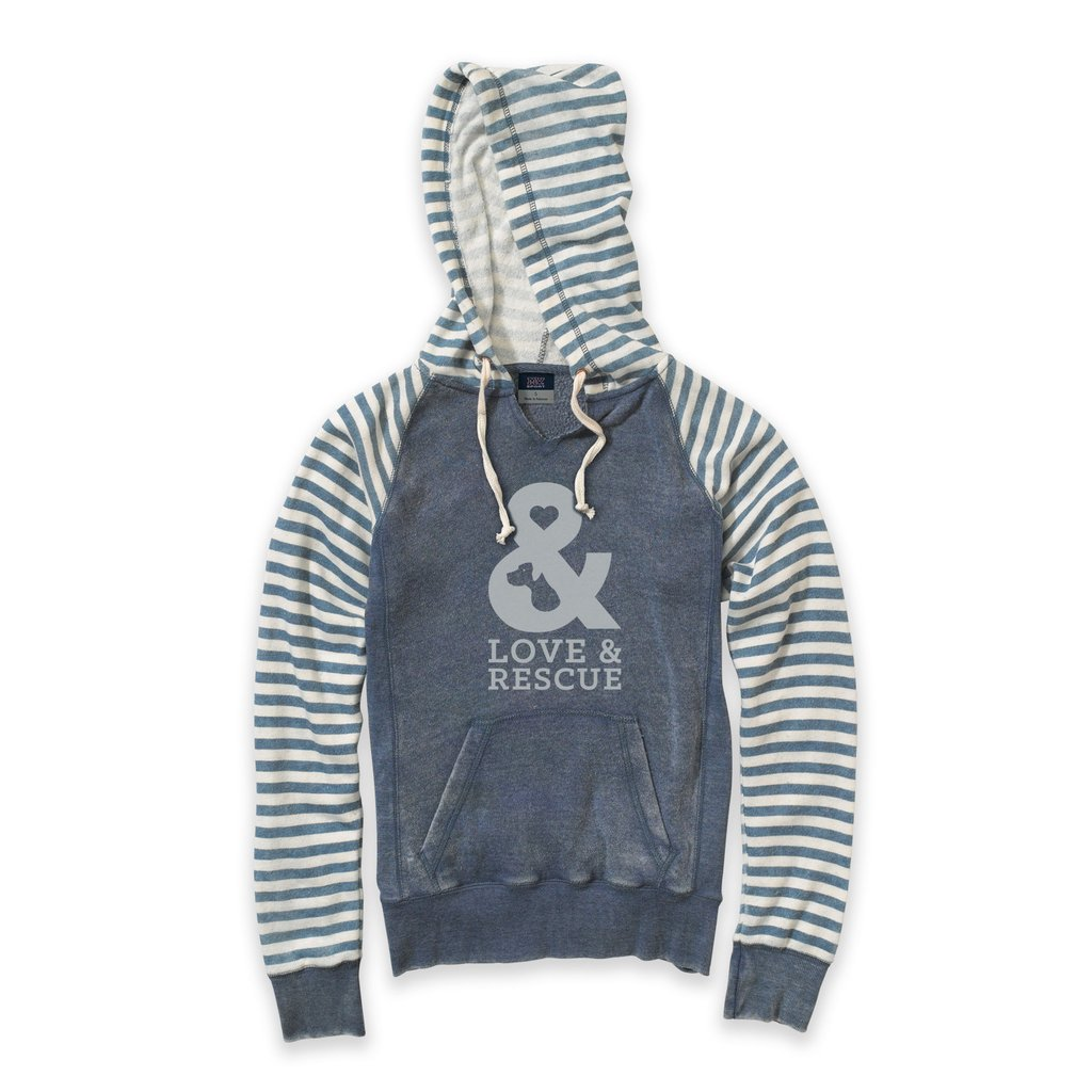 Ladies love and rescue sweatshirt